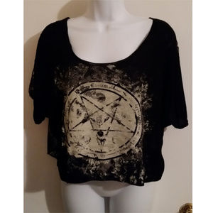 Lip service relaxed pentagram top tee S/M black